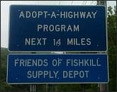 FOFSD adopt-a-highway sign